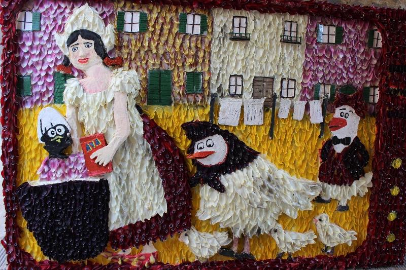 Made with tulip petals, Castiglione sul Lago, Umbria, Italy