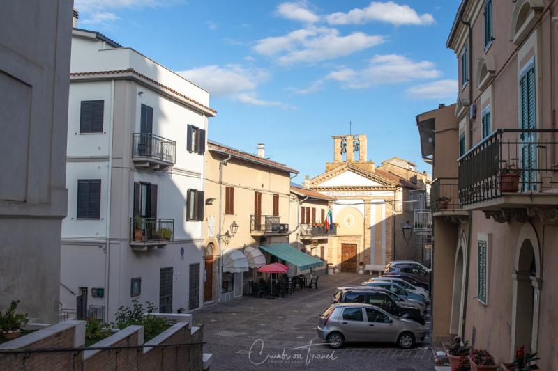 The piazza of Castilenti in Abruzzo