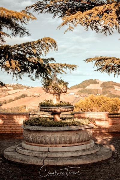 The town park of Castilenti in Abruzzo