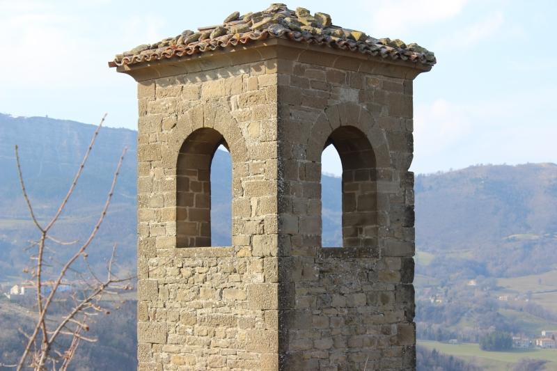 Bel tower at Castle Pietrarubbia, Montefeltro, Le Marche/Italy