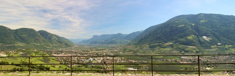 View on Meran from Castle Tirol, South-Tyrol/Italy