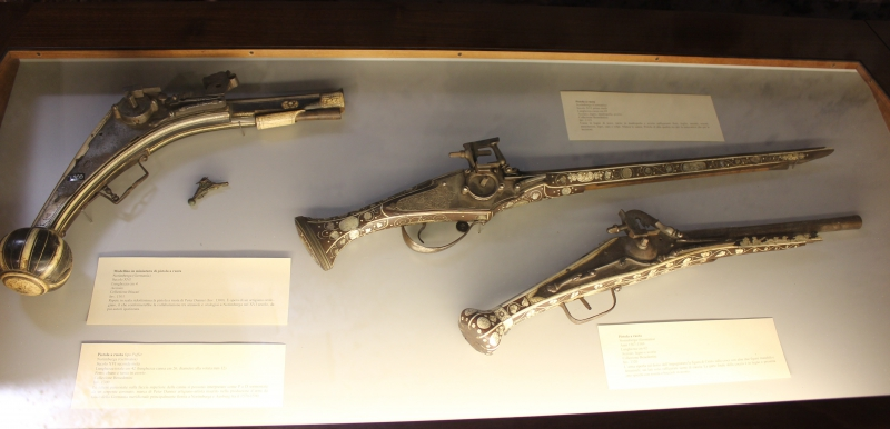 Pistols in the castle of Catania, Sicily/Italy