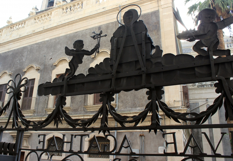 Detail of the gate of the cathedral of Catania, Sicily/Italy