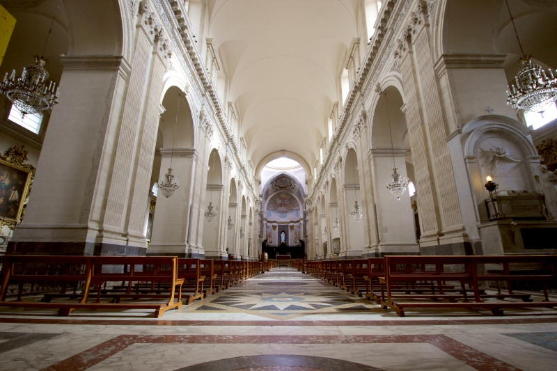 Inside of the cathedral of Catania, Sicily/Italy