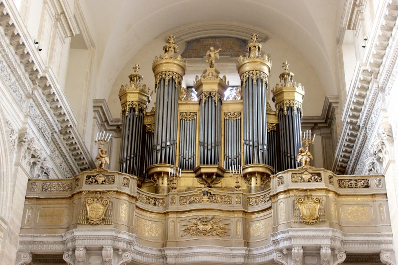 Church organ in the cathedral of Catania, Sicily/Italy