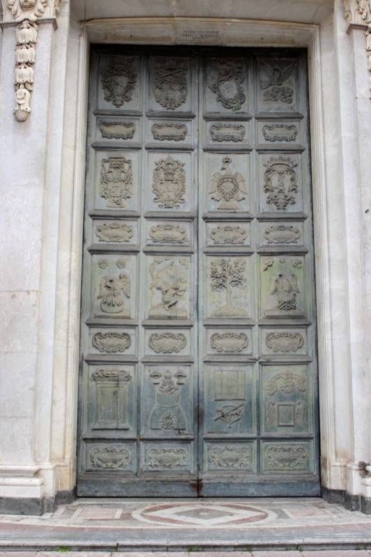 The door of the cathedral of Catania, Sicily/Italy