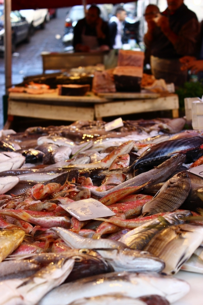 At the Fishmarket in Catania, Sicily/Italy