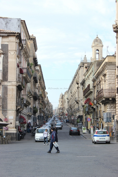 Main road in Catania, Sicily/Italy