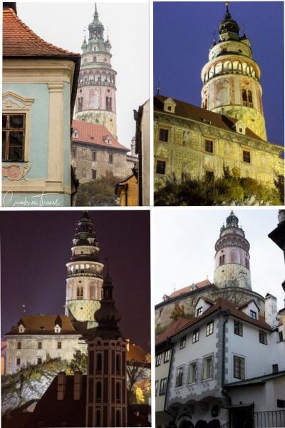 Castle view of Český Krumlov