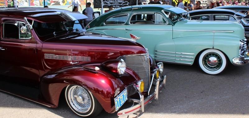 Cars seen at the Chicano Festival, Amigos Car Club, Chicano Park, San Diego, California/USA