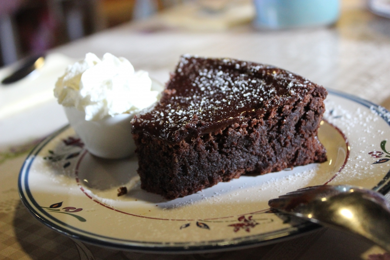 Gluten-free brownie, The Courtyard, Kells, County Meath/Ireland