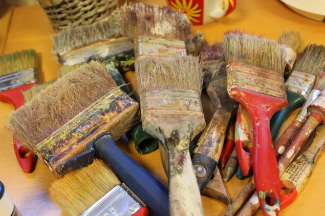 Brushes for acrylic painting with Petra Krabbemeyer, Creart