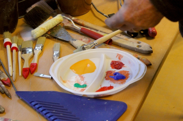 Colors for acrylic painting with Petra Krabbemeyer, Creart