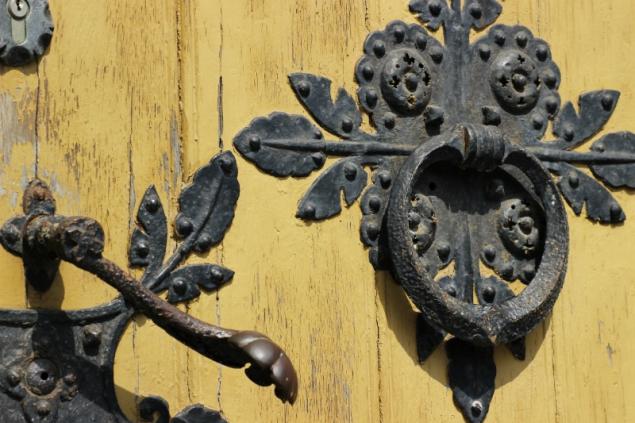 Detail of a door in Schwerin, Germany