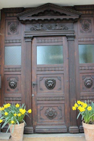 Brown door in Schwerin, Germany