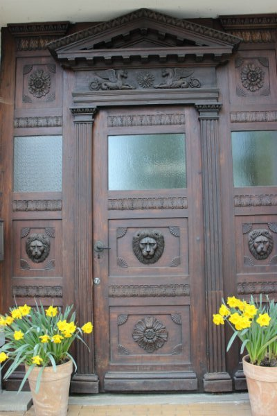 Brown door in Schwerin, Germany