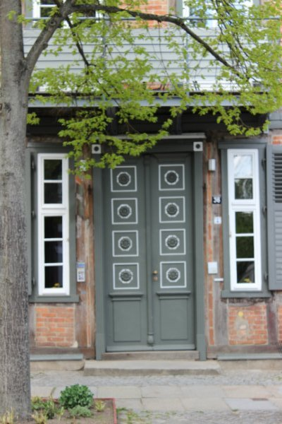 Old entrance in Schwerin, Germany