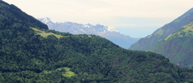 Mountains seen from Dorf Tirol, South Tyrol/Italy