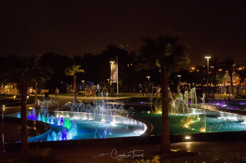 Zabeel Park by night, The Frame Dubai