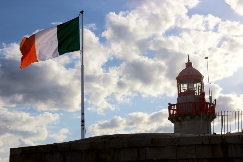 Irish flag, Dublin/Ireland