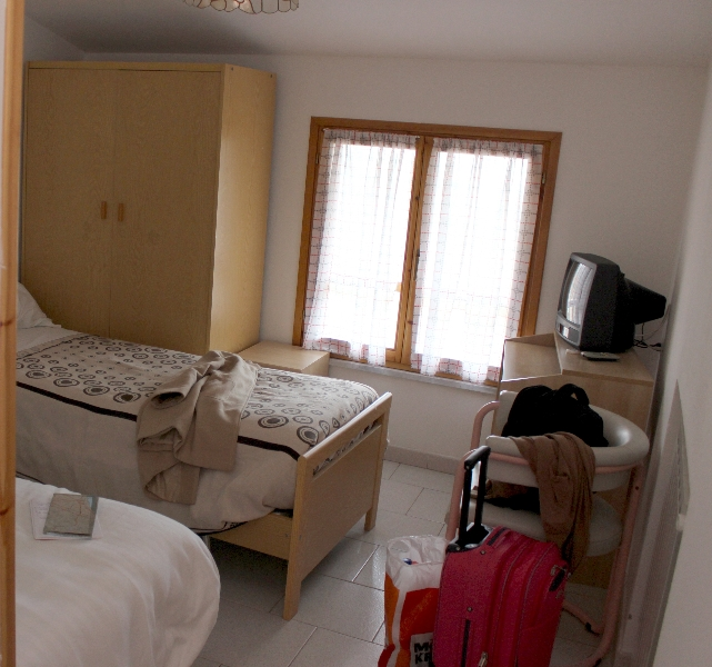 Room view of hotel Due Pini, Minozzo, Emilia-Romagna, Italy