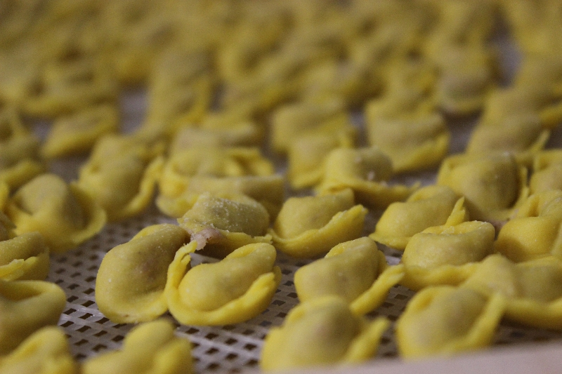 Homemade pasta at hotel Due Pini, Minozzo, Emilia-Romagna, Italy