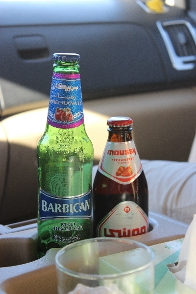 Beer with pomegranate and strawberry, Jordan