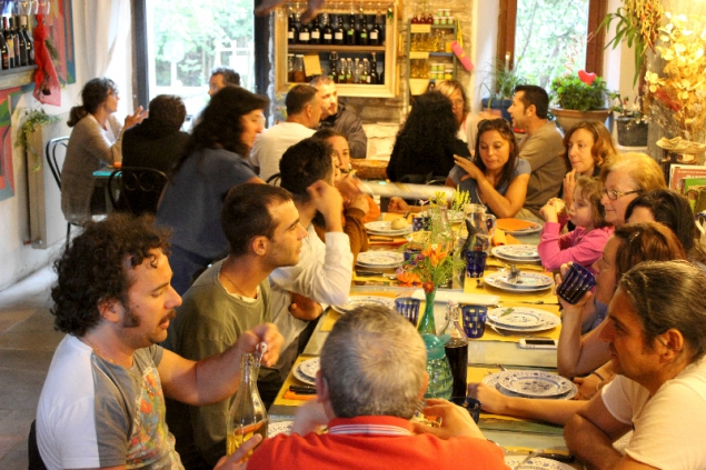 Dinner, Erbe delle Streghe, 24th June, Val d'Erica