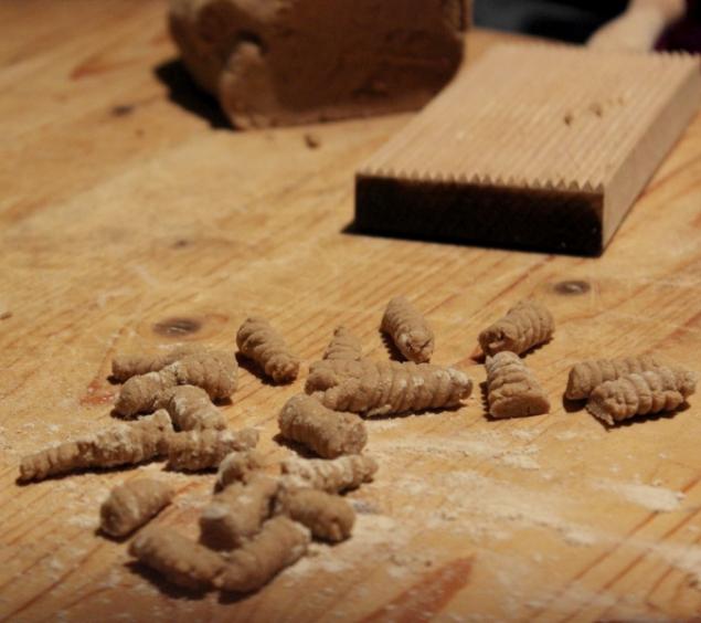 Paleo pasta homemade at b&b ValdericArte, Le Marche/Italy