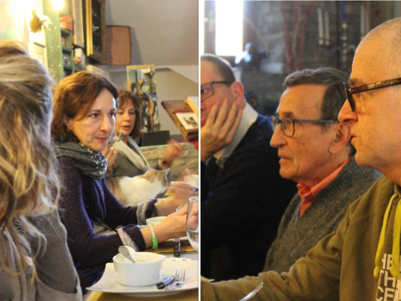 Paleo lunch with Fabio Piccini at b&b ValdericArte, Le Marche/Italy