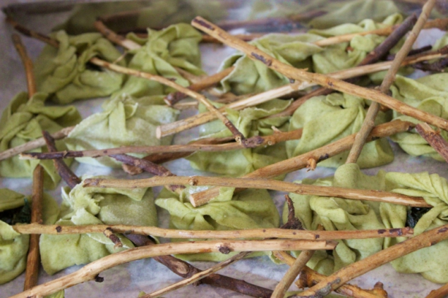 Fagottini – little pasta bundles filled with spinach and cheese