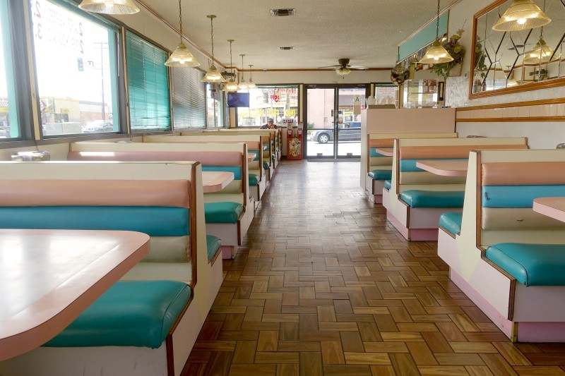 Taco shop of the fifties, California, USA