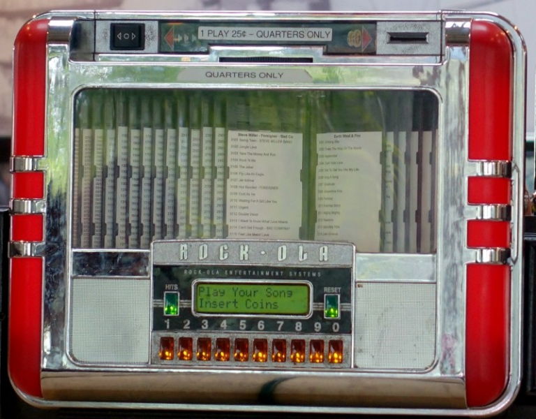 Jukebox of the fifties, California, USA