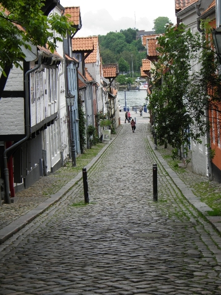 Old street in Flenburg, Germany