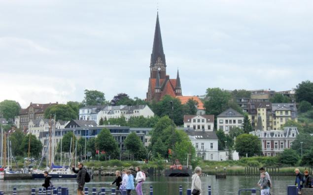 View of Flenburg, Germany