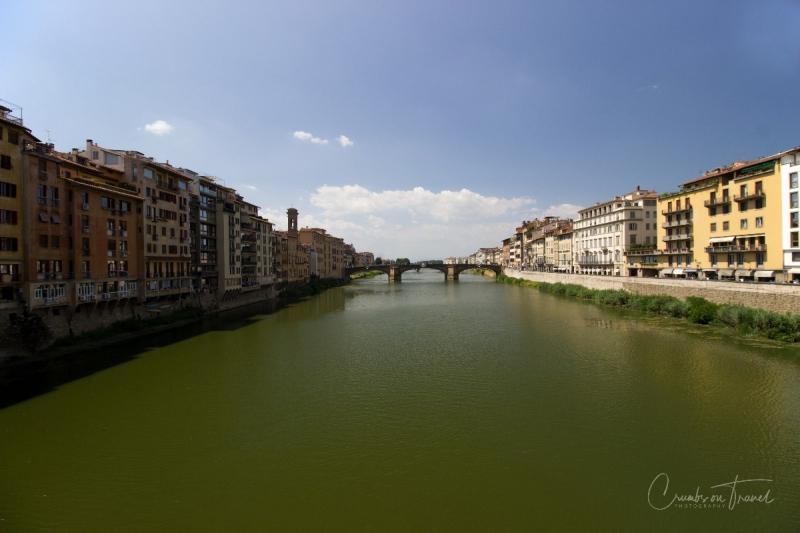 Ponte Santa Trinita seen from the Ponte Vecchio, Florence, Tuscany/Italy
