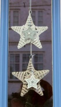 Window decoration seen in Friedrichstadt, Schleswig-Holstein, Germany