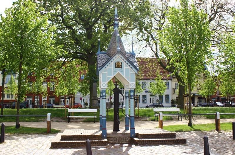Well seen in Friedrichstadt, Schleswig-Holstein, Germany