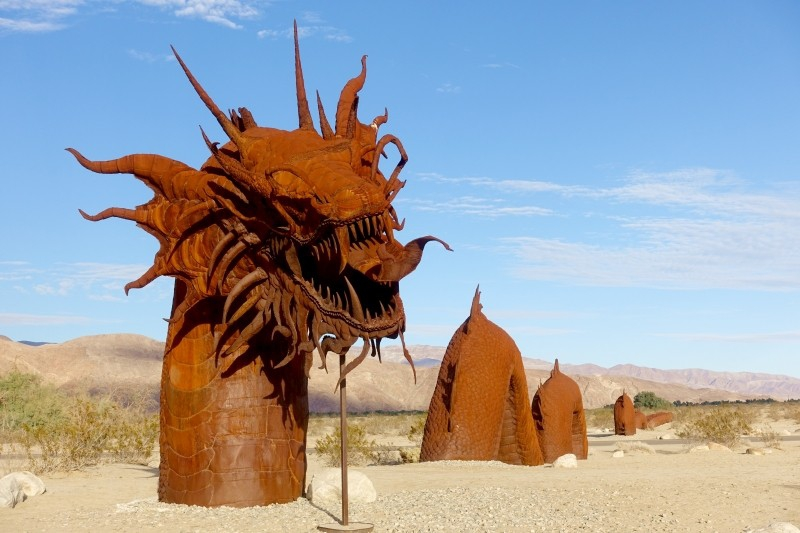 Galleta Meadows, metal sculpture, dragon, Borrego Springs, California/USA