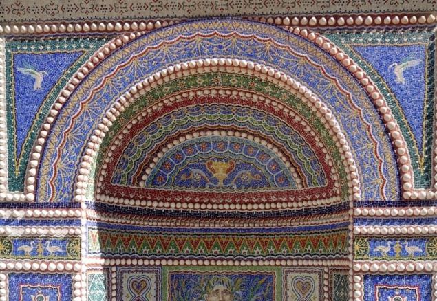 Mosaic fontain at the Getty Villa, Los Angeles, California/USA
