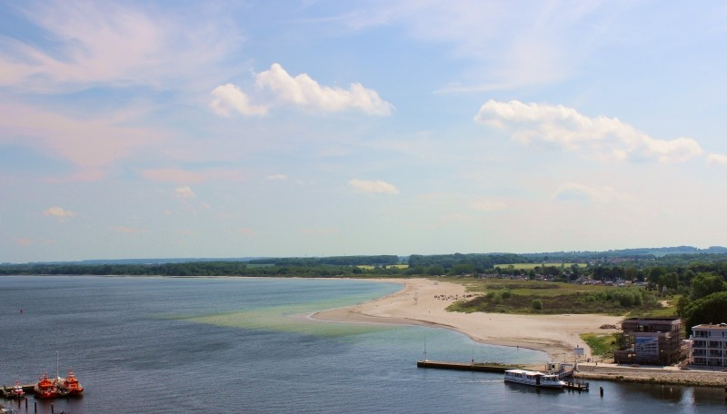 View to the east side of Travemünde, Schleswig-Holstein/Germany