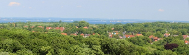 View to the north of Travemünde, Schleswig-Holstein/Germany