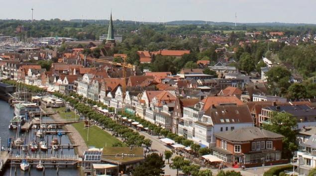 View on the village of Travemünde, Schleswig-Holstein/Germany