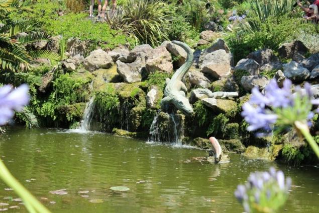 Crocodile cascade, Giardini La Mortella, Forio d'Ischia, Campagna/Italy