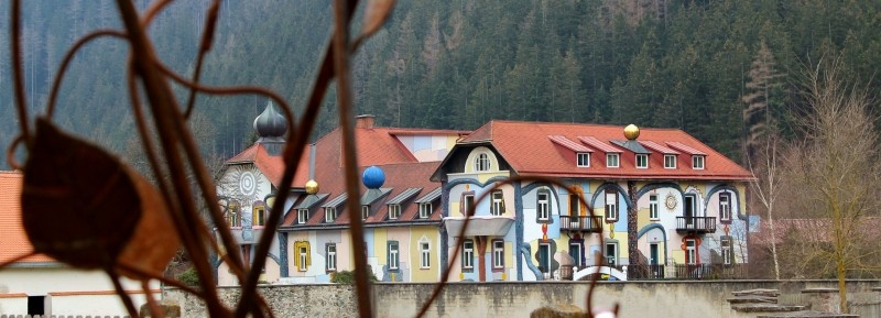 Hundertwasser house lookalike, Neuberg a. d. Mürz, Styria/Austria