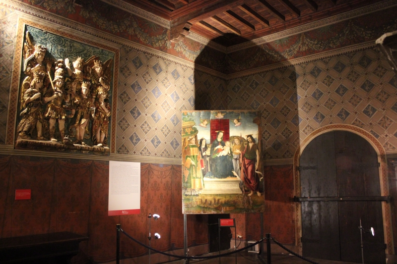Inside the castle of Gradara, Le Marche, Italy