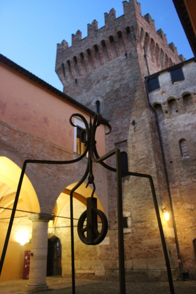 Yard of the castle of Gradara, Le Marche, Italy