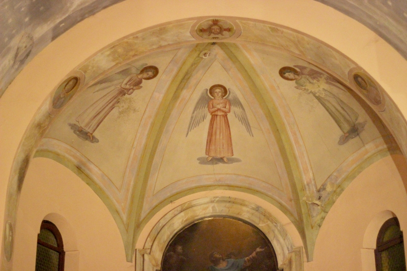 Painting, San Giovanni Battista church in Gradara, Le Marche, Italy