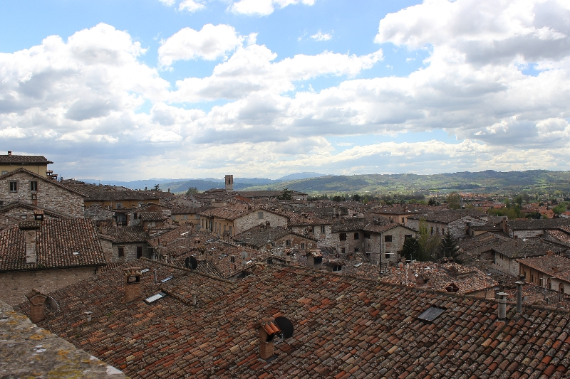 View from Gubbio, Umbria, Italy