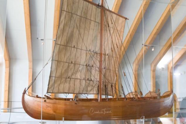 Viking ship - Museum Haithabu - Viking village in Schleswig-Holstein